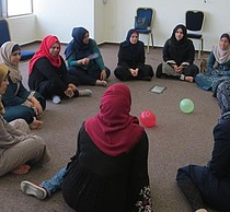 A psychosocial support workshop in Gaza. Photo by the Centre for Women's Legal Research and Consulting