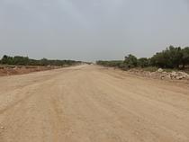 طريق التفافي في قرية النبي إلياس قيد الإنشاء. تصوير مكتب تنسيق الشؤون الإنسانية، نيسان/أبريل 2017.