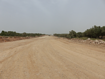 An Nabi Elyas bypass road under construction, April 2017. © Photo By OCHA
