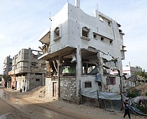 Destroyed house from 2014 hostilities, Gaza. © Photo by OCHA, January 2016.