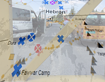 Hebron closure map, 5 July 2016