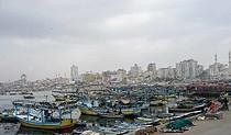Fishing boats at Gaza city's port, March 2018 ©  Photo by OCHA