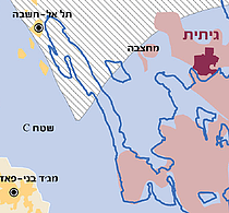 """מפה: אשרור הכרזות על """"אדמת מדינה"""""""