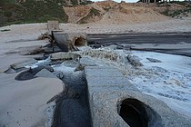 Untreated sewage discharged into the Mediterranean Sea. © Photo by OCHA.