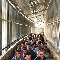 حاجز جيلو، 2 حزيران/يونيو 2017. © تصوير مكتب تنسيق الشؤون الإنسانية