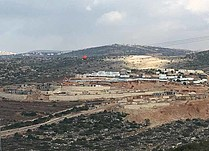 Construction and settlement cultivated area in Nahlei Tal outpost (December 2016). © Photo by OCHA