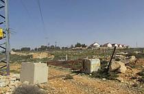 Road gate blocking access to Al Ganoub, May 2015.
