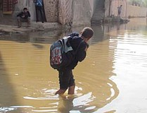 Sewage in the streets, Gaza city,13 November 2013