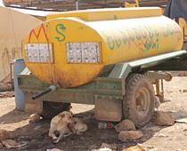 Archive picture: Water tank, Al Hadidiya, 2012