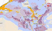 "Map: ""State land"" declarations in the Gush Etzion settlemennt area (Bethlehem) - cropped"