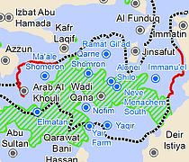 Map: Wadi Qana area