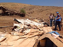 Needs assessment ongoing following a demolition in the Khirbet ar Ras al Ahmar community in the Northern Jordan Valley, 30 July, 2019.