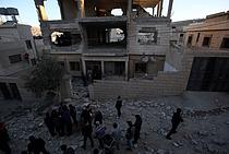 Punitive demolition in Nablus, 14 November 2015. Photo by Ayman Nobani