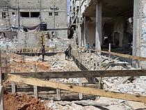 إعادة الإعمار تبدأ في المنطقة المدمرة في الشجاعية في غزة. صورة بواسطة مكتب تنسيق الشؤون الإنسانية