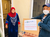 Aid delivered to Palestinian families in Khallet Sakariya (Bethlehem). Photo by Mohammad Amayreh