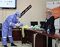 Staff at quarantine facilities receive training in proper use of PPE, protection concerns and referral