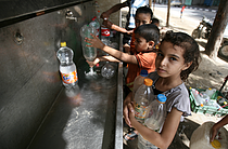 Tap of desalinated water in Rafah, Gaza Strip, 1 July, 2014. Photo by UNICEF/ElBaba