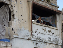 A severely damaged house in Ash Shuja'iyeh, Gaza, January 2015. Credit: OCHA