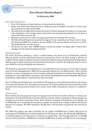 Gaza Humanitarian Situation Report   January   United