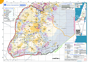 Hebron Governorate Access Restrictions Map December 2011 United