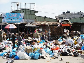 Garbage accumulated in the Ash Sheikh Radwan area in Gaza City, 2 March 2018. © Photo by OCHA