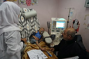 Kidney Dialysis Unit at Ar Rantisi hospital in Gaza, January 2018. © Photo by OCHA