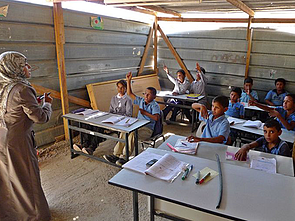 Khan al Ahmar school at risk of demolition after receiving demolition order from the ICA on 5 March 2017. © Archive photo by OCHA, 2013