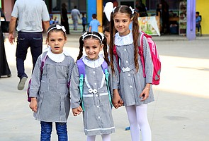 Beginning of new year at UNRWA school, Gaza. © Photo Credit: Khalil Adwan/ UNRWA