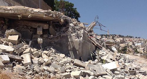 Demolished residence in the Silwan neighborhood of East Jerusalem, 23 August. Photo by OCHA.