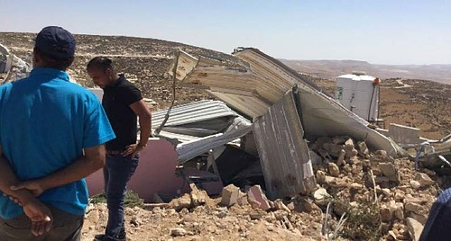 Donor funded residential structure demolished in Khallet Athaba' (Hebron), 11 September 2019.