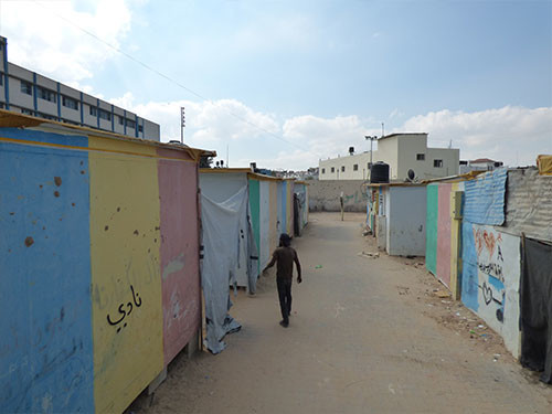 Caravan site in Beit Hanoun, Oct 2016. Photo by OCHA