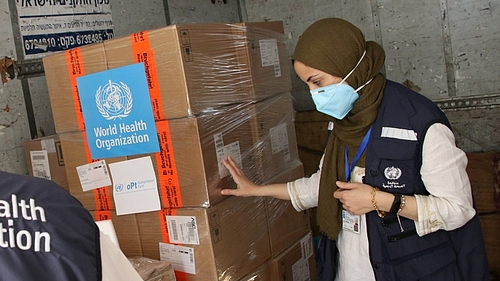 Aid delivery to Gaza, 2 June 2020. Photo by WHO