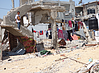 نازحون يعيشون في مأوى مؤقت قرب منازلهم المدمرة، بيت حانون,صورة بواسطة مكتب تنسيق الشؤون الإنسانية