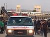 """مظاهرة في سياق """"مسيرة العودة الكبرى"""" بالقرب من السياج الحدودي، شرق مدينة غزة، 27 نيسان/أبريل 2018"""