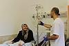 Siham al Tatari receving treatment at Augusta Victoria Hospital, East Jerusalem, January 2017. ©  Photo by OCHA.