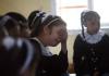 Shaima at school. Photo by UNICEF/ElBaba
